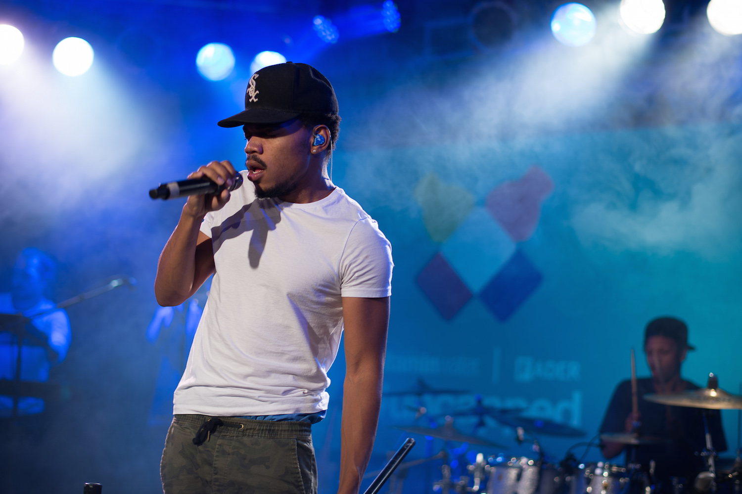 NEW YORK, NY - OCTOBER 03:  Chance the Rapper performs at the vitaminwater And The Fader Unite To